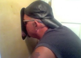 Married Leather Daddy At The Gloryhole