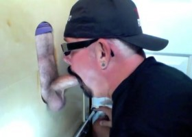 Gloryhole Fan Whips It from For A BJ