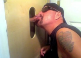 Two Cocks At The Gloryhole Get Sucked
