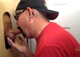 Gloryhole Deep Throat and Swallow