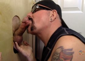 First Time At Gloryhole Daddy Cock