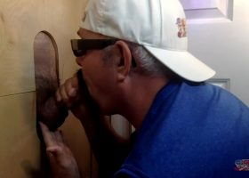 First Time Blowjob At The Gloryhole