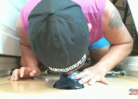 Ebony Maintenance Man At The Gloryhole