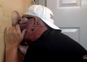 Old Regular Back At The Gloryhole
