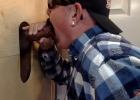 Blowing Big Dick Latino At The Gloryhole