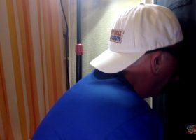 Gloryhole Hotel Blow Job