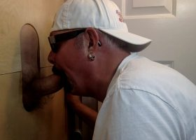 Sucking Fat Cock At The Gloryhole