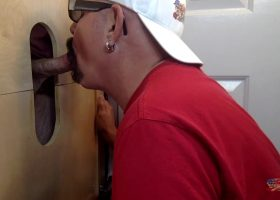 New Daddy Gets A Gloryhole Dick Sucking