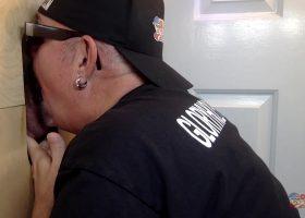 Gloryhole Buddy Feeds Me His Cum