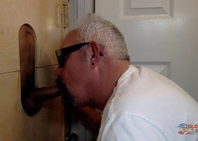 Latino Hottie Feeds Me At The  Gloryhole