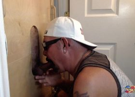 Latin Newbie Gets Sucked At The Gloryhole