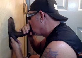 Out of Towner Gets A Gloryhole BJ