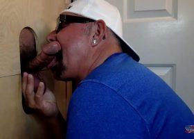 Gloryhole Blowjob For The Road