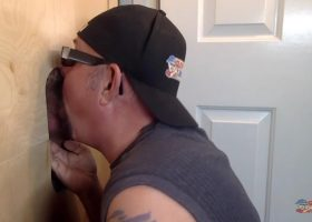 Latino Needs Head At The Gloryhole