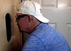 Dad Wants A Gloryhole Suck and Fuck