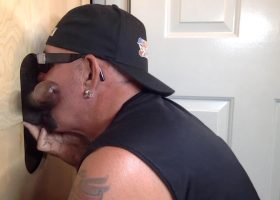 New Guy Discovers Gloryhole Pleasure