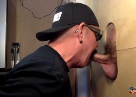 New Guy Sucked Off At The Gloryhole