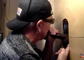 Sucking Chocolate Cock At The Gloryhole