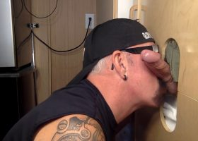 Sweaty First Time Gloryhole Visit