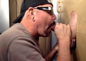 Married Guy Gets Gloryhole Suck Off