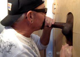 Gloryhole Sucking Big Black Cock